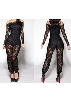 Lace Up Bodysuit Black Strapless Jumpsuit Long Sleeves Off Shoulder See  Through Camouflage Sexy Party Mesh One Piece Romper Lady 549ef7f4115c