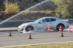 Breaking on wet track contest. #Maserati
