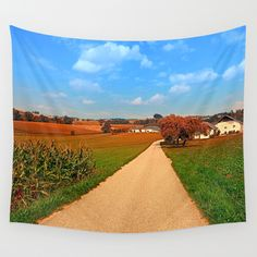 Hiking through a peaceful scenery III Wall Tapestries, Tapestry, Landscape Photography, Golf Courses, Scenery, Hiking, Peace, Products, Wall Hangings