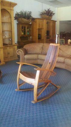 Wine stave rocking chair