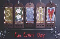 Fun Every Day Cross Stitch Calendar, June, designed by SamSarah Design Studio, Part 6 of 12.