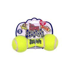 Kong Air Squeaker Dumbbell. Emite sonido al presionarlo y esto lo hace muy atractivo para tu perro.
