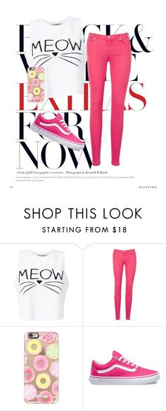 """""""SEM TÍTULO #113"""" by luhpayne-948 on Polyvore featuring Miss Selfridge, 7 For All Mankind, Casetify and Vans"""