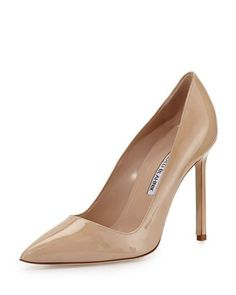 BB Patent 105mm Pointed-Toe Pump / MANOLO BLAHNIK