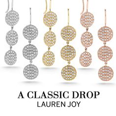 A new take on our coveted Lauren Joy studs, we introduce you to the Medium Drop Earrings.