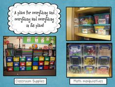 Organize Your Classroom Materials