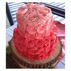 2 layer rosette cake - Google Search