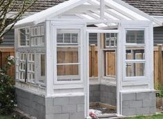 The Greenhouse Project: Windows and Staining #conservatorygreenhouse
