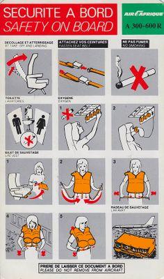 Air Afrique A300-600R Safety Card