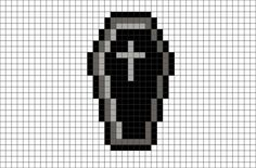 black and white pixel art - - Image Search Results Pixel Art Templates, Perler Bead Templates, Diy Perler Beads, Perler Bead Art, Perler Patterns, Pixel Pattern, Pattern Art, Cross Stitching, Cross Stitch Embroidery