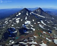 The spine of the Cascade Mountain Range, as seen from South Sister, Oregon by D. Arthur Brown Photography