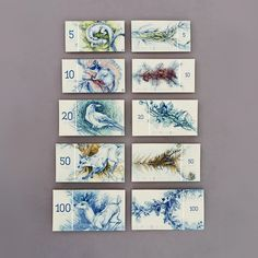 Design by Barbara Bernát Hungarian paper money design (fictional) Slow Galerie, Etching Prints, Illustrations, Grafik Design, Graphic Design Inspiration, Creative Inspiration, Animal Drawings, Designer, Animaux