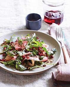 Fennel, Prosciutto & Pomegranate Salad with Coffee Balsamic via Sweet Paul