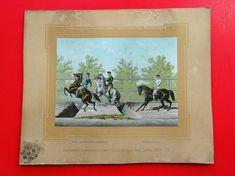 Lithographie Pferde Horse kuk Monarchie Equitationsbilder Krapek Slowenien 2 Horses, Ebay, Paper, Painting, Art, Slovenia, Art Print, Craft Art, Painting Art