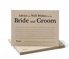 Wedding Advice Cards Advice for Bride and Groom Bridal