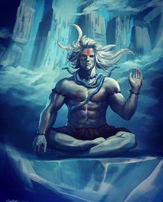 dhyana yoga of Shiva Shiva Shakti, Mahakal Shiva, Shiva Statue, Rudra Shiva, Angry Lord Shiva, Wicca, Shiva Meditation, Shri Hanuman, Radhe Krishna