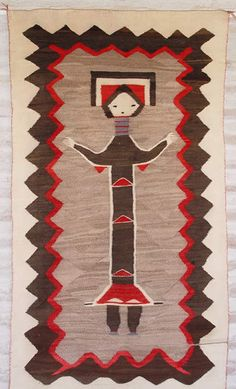 Historic Native American Textile : GHT 1910 : Hero Twin Pictorial - Nizhoni Ranch Gallery
