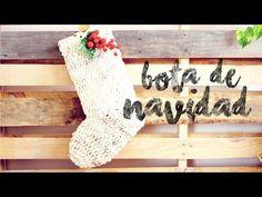 Bota de Navidad a Crochet - YouTube