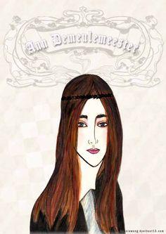 ann demeulemeester, f/w 2016, fashion illustration by bonnie.w