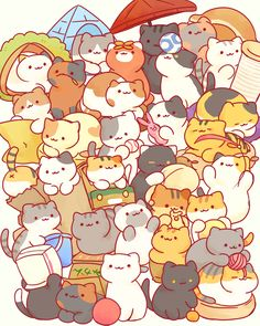 so it has been a year and three months since i started playing neko atsume. i wanna go back someone pls help me Cute Cat Drawing, Cute Kawaii Drawings, Cute Animal Drawings, Chat Kawaii, Kawaii Cat, Kawaii Doodles, Cute Doodles, Cute Kawaii Animals, Cute Cartoon Wallpapers
