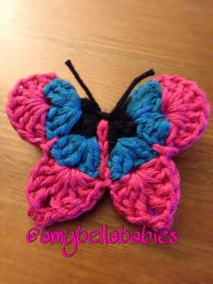 3 Color Butterfly Hair Pin