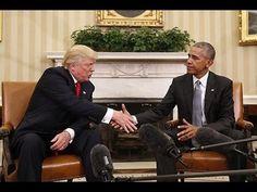 Donald Trump se encontra com Barack Obama na casa branca para transição ...