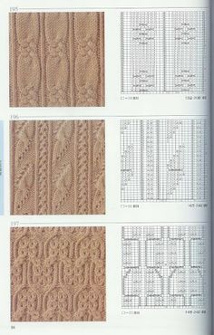 beautiful patterns knitting Tutorial for Crochet, Knitting. Cable Knitting Patterns, Knitting Stiches, Knitting Charts, Lace Knitting, Knitting Designs, Crochet Stitches, Lace Patterns, Stitch Patterns, How To Purl Knit