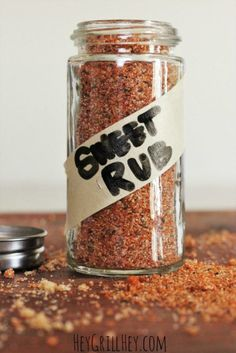 The BEST Sweet Rub for Grilled Pork and Chicken Homemade Sweet Rub. Amazing on grilled chicken, pork, shrimp, etc. Homemade Spices, Homemade Seasonings, Homemade Sweets, Homemade Bbq, Spice Rub, Spice Mixes, Spice Blends, Grilling Recipes, Cooking Recipes