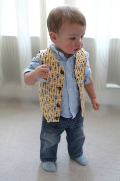 Reversible Baby Vest Tutorial w/ Free Pattern - Printable pattern for 12 month old.  Maybe could adjust size for older kid?