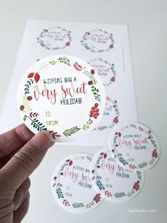 Sweet Holiday Printable Christmas Gift Tags