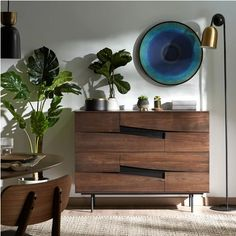 Great Blue Hole, American Walnut, Wall Brackets, Design Moderne, Dresser As Nightstand, Chest Of Drawers, Main Colors, Recycled Materials, Storage Solutions