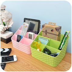 Cheap storage box, Buy Quality cosmetic storage box directly from China collection box Suppliers: Imitation rattan plaited cosmetics storage box dressing table cats and dogs remoter stationary carry plastic collecting box Makeup Organization, Storage Organization, Ebay Shopping, Cosmetic Storage, Rattan Basket, Drawer Organisers, Desk With Drawers, Jewellery Storage, Control