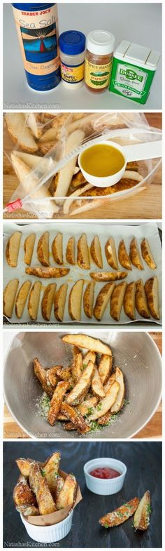 Funny pictures about Oven baked potato wedges to die for. Oh, and cool pics about Oven baked potato wedges to die for. Also, Oven baked potato wedges to die for. Baked Potato Wedges Oven, Oven Baked, Homemade Potato Wedges, Homemade Fries, I Love Food, Good Food, Yummy Food, Side Recipes, Food Dishes