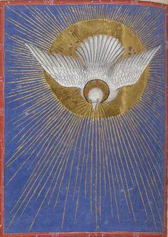 inacom: HOLY SPIRIT DOVE… nationale de France, Latin 747, f. 241v. Missale ad usum fratrum minorum. Milan, c.1385-1390.