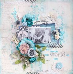 #papercraft #scrapbook #layout Created for July Prima BAP