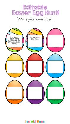 This Easter Egg Scavenger Hunt has editable clues which would be perfect for a preschool, elementary and even an adult themed Egg Hunt! You can type in your own clues to make the hunt more suitable to the age group. Editable PDF Easter Egg Scavenger Hunt Clues We love our yearly Easter Egg Hunt. My kids love creating their bunny themed Easter Egg Hat while they proudly show off their favorite bunny stuffed animal. (This is the stuffed animal they've had since they were babies and is that ...