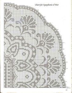 Crochet Thread Patterns, Weaving Patterns, Embroidery Patterns, Crochet Shawl Diagram, Filet Crochet Charts, Loom Bands, Crochet Tablecloth, Crochet Doilies, Images Lindas