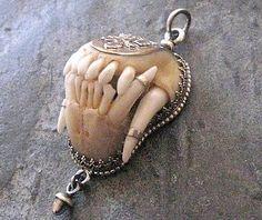 Jawbone pendant. Kinda weird but kinda cool looking