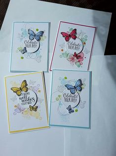 Stampin' Up!, Birthday, Beauty Abounds Stampin' Up! Butterfly Birthday Cards, Stamping Up Cards, Greeting Cards Handmade, Butterfly Cards Handmade, Flower Cards, Cute Cards, Scrapbook Cards, Homemade Cards, Cardmaking