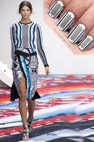 Peter Pilotto Spring '13 - fashion inspired nail art