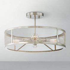 7ec9c0a6d714 Muse Collection 4-Light Brushed Nickel Ceiling Light -  2Y625