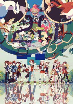 Pokemon Trainers From the Games Fan Art Pokemon, Pokemon Tumblr, Pokemon Manga, Pokemon Pins, Pokemon Games, Cute Pokemon, Pokemon Remake, Pikachu, Digimon