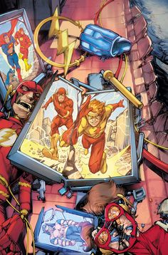 Flash War: Impulse Returns To DC Continuity. Comic Book Characters, Comic Character, Comic Books Art, Comic Art, Kid Flash, Flash Art, Batgirl, Superman, Flash Wallpaper
