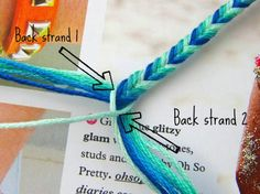Braided friendship bracelets.