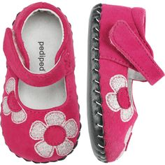 """Pedipeds: Abigail - Fuchsia....I am in LOVE with these lil """"mocassin-like"""" shoes for babies learning to walk!"""