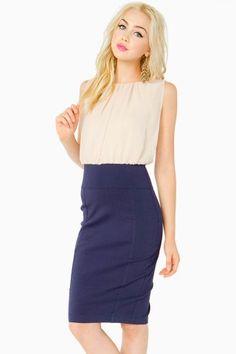 Blouson Midi Work Dress
