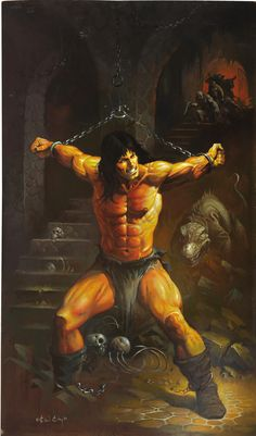 Ken Kelly Dungeon of Death Conan Painting Original Art (1993).... | Lot #92121 | Heritage Auctions