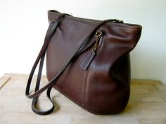 vintage supple brown COACH large shoulder bag by dirtybirdiesvintage, $85.00