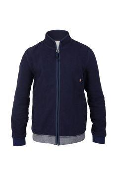 Fleecy Jacket - Navy   Outerwear