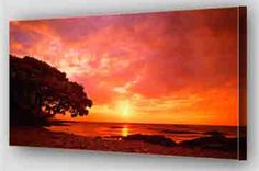 western sunset on canvas - Google Search